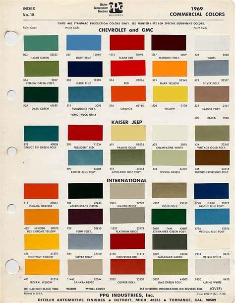 factory blazer colors the 1947 present chevrolet gmc
