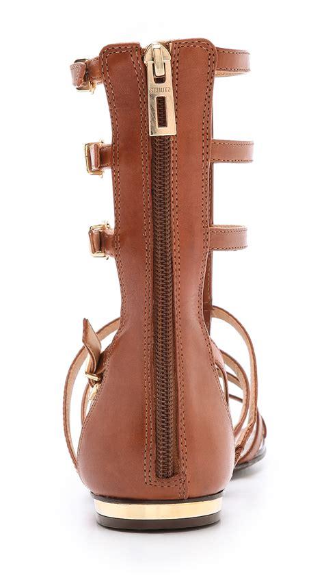 Sandal Gladiator Pria 19 schutz gladiator sandals in brown lyst