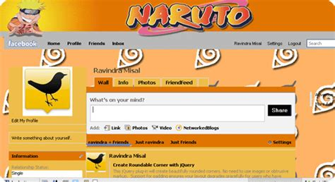 facebook themes and skins naruto 45 facebook themes images frompo 1