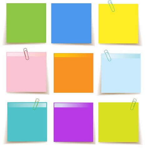 Set Of Sticky Notes Template Free Printable Papercraft Templates Editable Post It Note Template