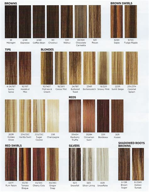 revlon hair color chart revlon hair color chart numbers