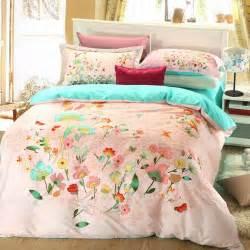 Elegant style light pink floral print bedding set ebeddingsets
