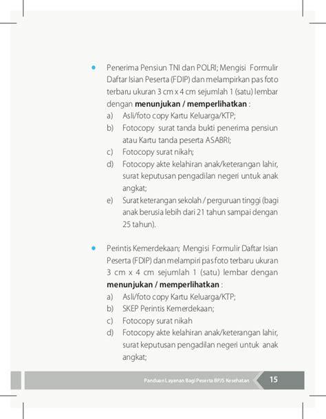 format daftar isian peserta bpjs buku panduan layanan bagi peserta bpjs kesehatan