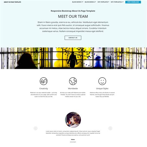 Free Mobile Site Template by Mobile Site Template Choice Image Professional Report