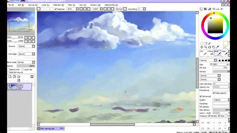 paint tool sai sky tutorial clouds tutorial sai