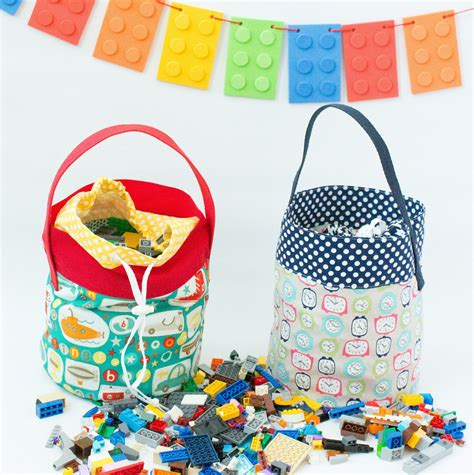 lego bag tutorial fabric lego bucket tutorial legos tutorials and sewing