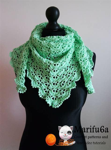 shawl pattern youtube how to crochet spring triangle baktus wrap shawl free