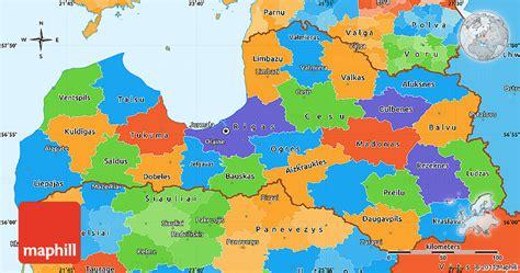 latvia on the world map political simple map of latvia