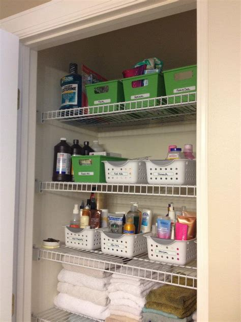 organizing ideas for bathrooms bathroom closet organization
