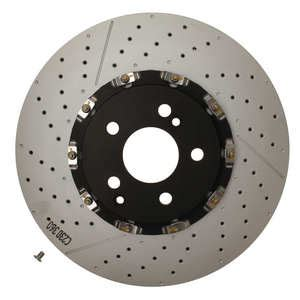 front brembo 2 slotted drilled brake rotor 2194210212 09976423 599 50 auto brake