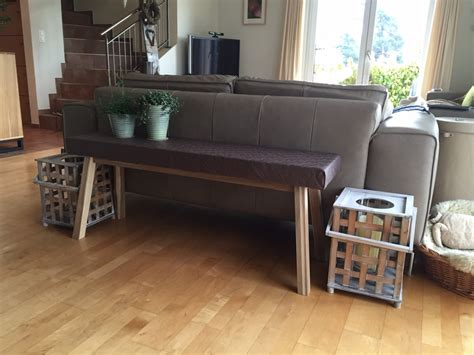 console hack ikea skogsta from bench to narrow console table ikea