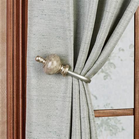 drapery hold back waverly makrana curtain rod and finial set 24 quot to 120 quot