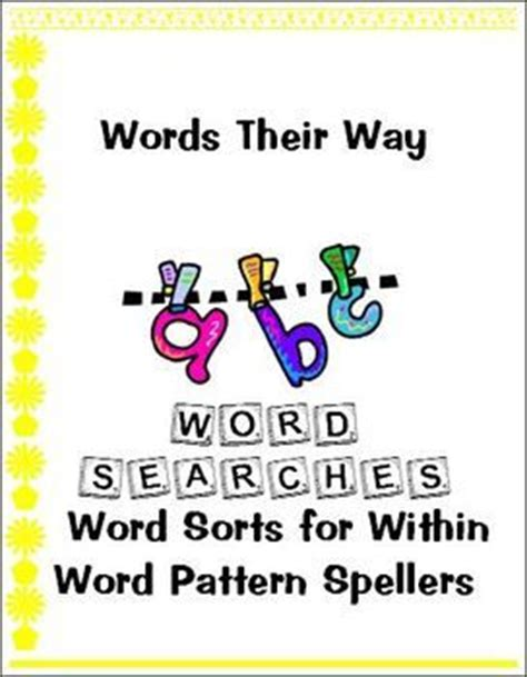 pattern out of words words their way word searches within word pattern spellers