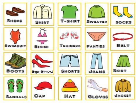 imagenes juguetes en ingles loteria prendas de ropa en ingles