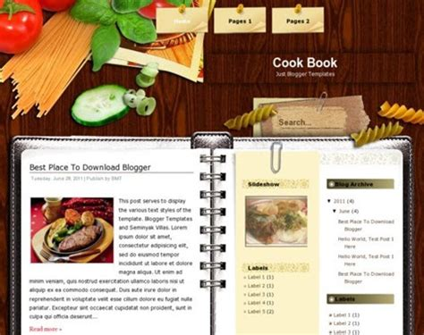 themes blogger books cook book blogger template blogger templates gallery