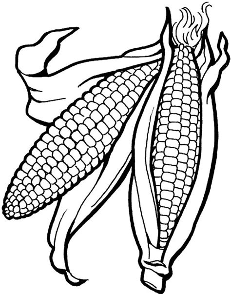 coloring page indian farm vegetable corn coloring pages womanmate