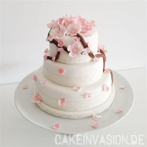 Japanische Hochzeitstorte by Tutorial Kirschbl 252 Ten Aus Bl 252 Tenpaste Cake