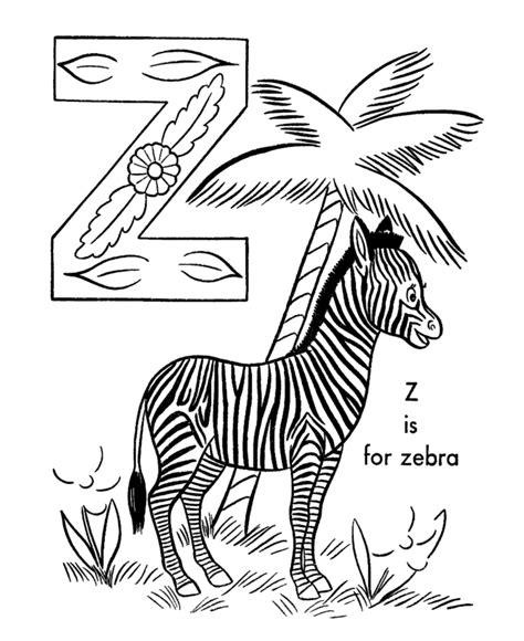 Z Zebra Coloring Page by Gambar Mewarnai Zebra Untuk Anak Paud Dan Tk