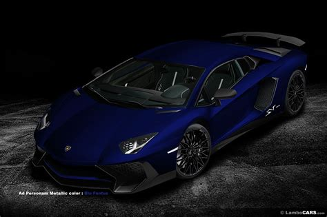 Navy Blue Lamborghini The Lamborghini Aventador Lp750 4 Superveloce Option List