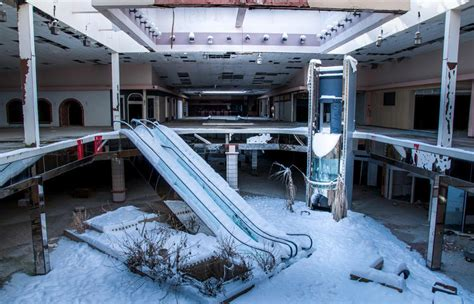 seph lawless rolling acres surreal photos of abandoned snow filled malls show the