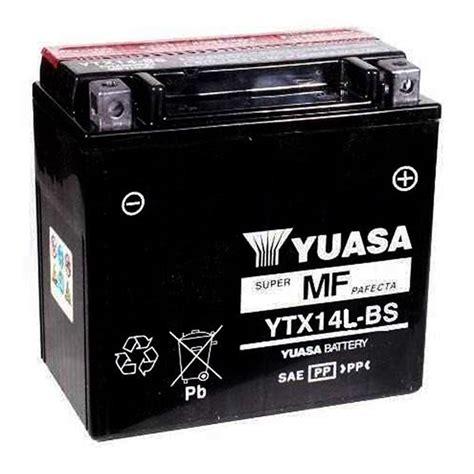 Baterai Yuasa jual baterai yuasa ytx14l bs maintenance free harley sportster xr120