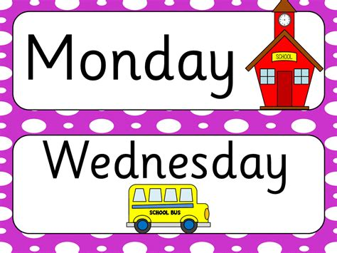 days of the week clipart cliparts galleries