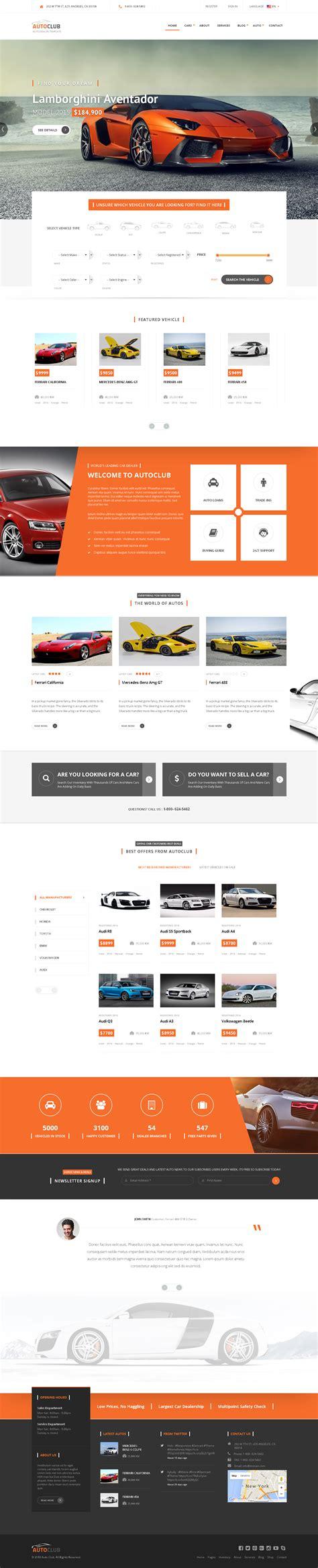drupal themes envato auto club responsive car dealer drupal theme by