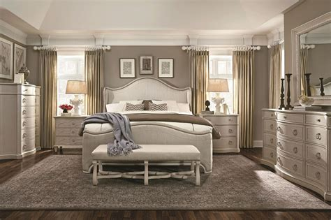 exclusive silver king size bedroom sets ideas with button chateaux grey upholstered shelter bedroom set 213155