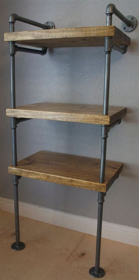 signature industrial pipe media shelving