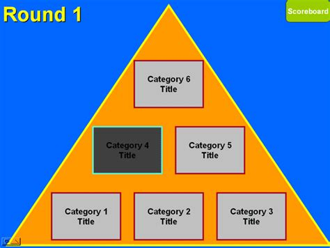 25 000 Pyramid Game Template Pyramid Game Powerpoint 25000 Pyramid Powerpoint Template