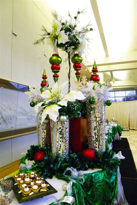 christmas buffet table decorating photograph elegant chris