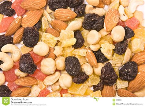 fruit 2 nuts dried fruits and nuts mix texture stock image image 4130951