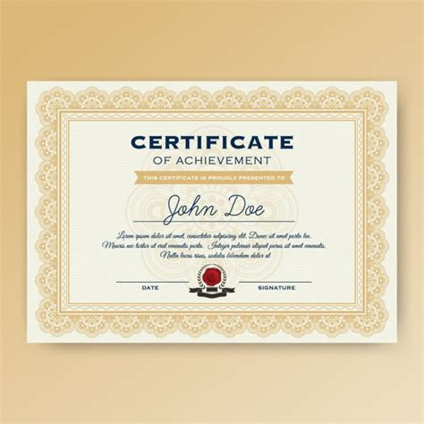design free certificate template design vector free