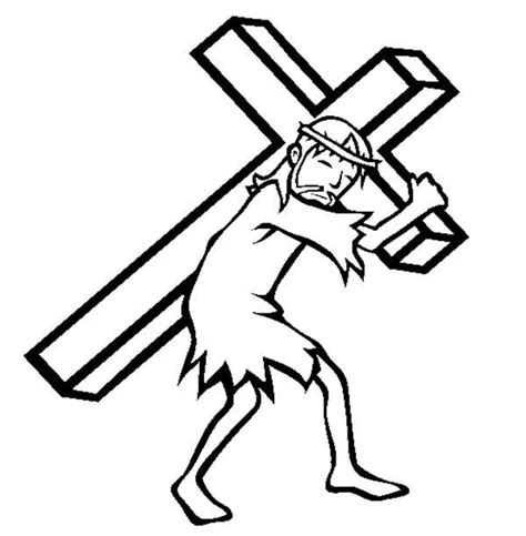 coloring pages of jesus carrying the cross count the cost luke 13 10 14 35 st luke s lutheran