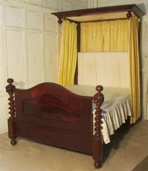 half tester bed victorian mahogany 5ft half tester bed 287977 sellingantiques co uk