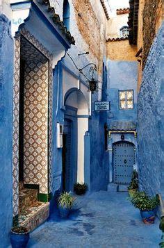 wandlen orientalisch die blaue stadt blau haus stra 223 e marokko afrika