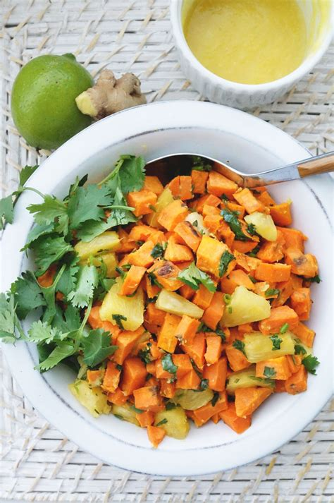 Http Autoimmune Paleo Zesty Detox Salad by Spicy Roasted Sweet Potato And Pineapple Salad