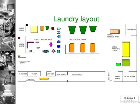layout of a laundry laundry presentation