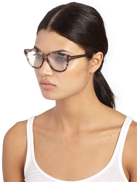 tom ford butterfly optical glasses in pink lyst