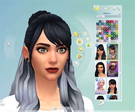 sims 4 ombre hair mod the sims wms leela v4 hair ombre recolour