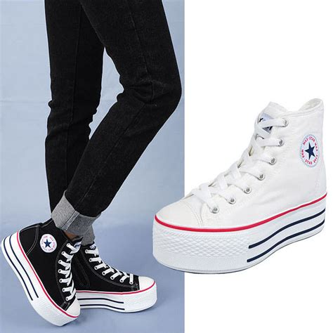 womens high top canvas lace up comfort inside zip