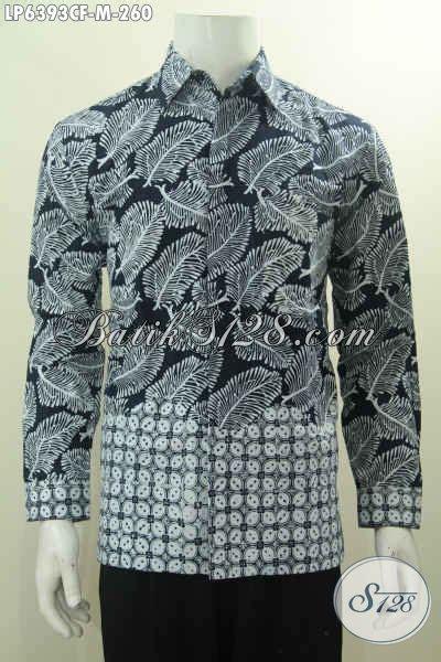 Kemeja Pria Spark Lp Putih baju kemeja batik lengan panjang hitam putih kwalitas