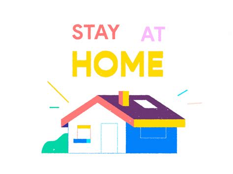 stay  home  romain huneau  dribbble
