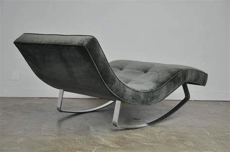 adrian pearsall rocking chaise adrian pearsall rocking chaise longue with chrome base at