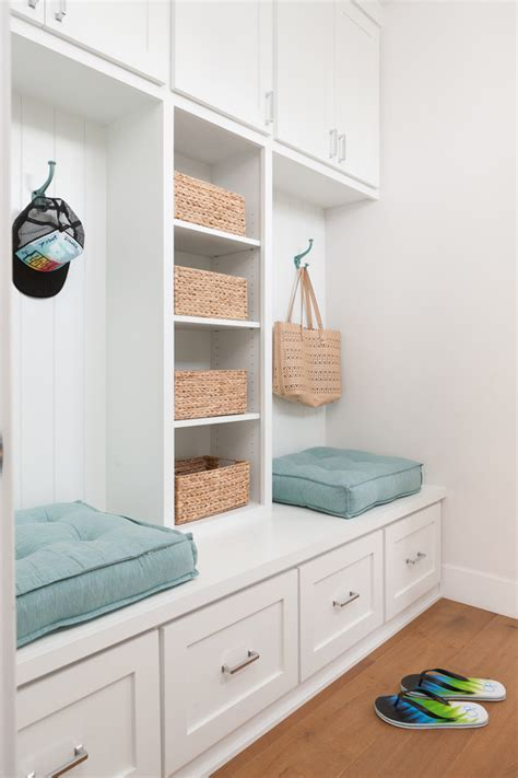 mudroom cabinets and benches modern new construction beach house ideas home bunch