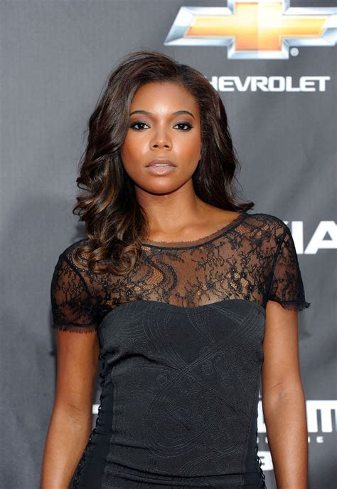 gabrielle union hairstyles gabrielle union radiates with polished curls