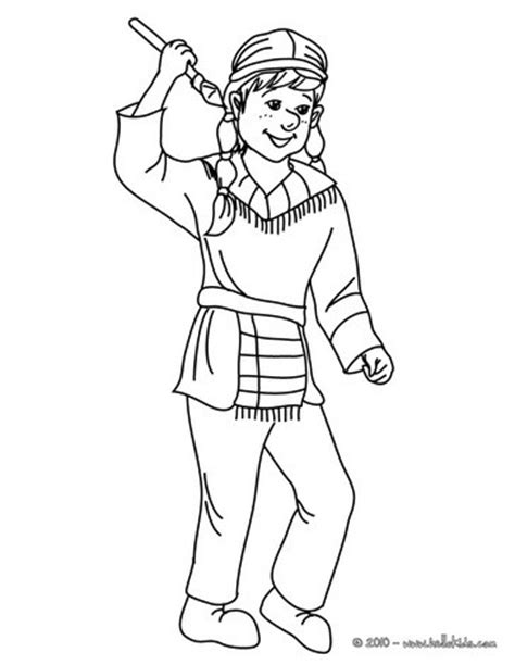 indian costume coloring pages hellokids com