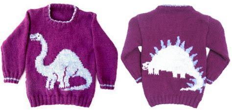 free knit pattern dinosaur sweater 11 dinosaur knitting patterns the craftsy blog