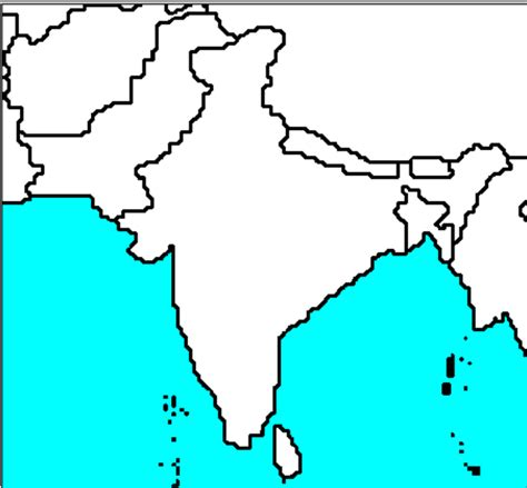 Outline Map Of Indian Subcontinent by The Mr O Zone Uncategorized Clipart Best Clipart Best