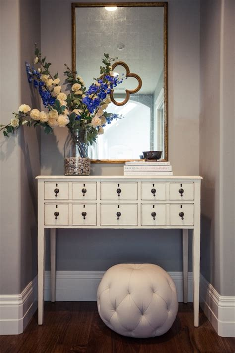 Home Entrance Table Apothecary Table Transitional Entrance Foyer Home